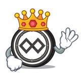 King Tenx coin mascot cartoon. Vector illustration Stock Photography