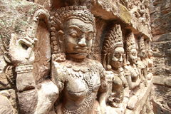 King terrace ,Angkor Thom Stock Photos