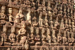 King terrace in Angkor Thom Stock Image