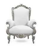 King Throne Chair. Isolated on white background. 3D render stock illustration