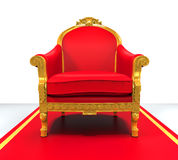 King Throne Chair. On white background. 3D render Stock Images