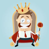 King on throne Royalty Free Stock Photography