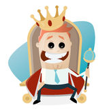 King on throne clipart Stock Photos