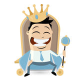 King on throne clipart. Illustration of a king on throne Stock Images