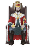 King on throne Royalty Free Stock Photos