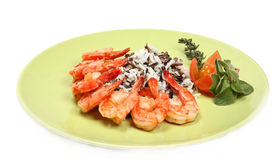 King tiger prawn shrimp Royalty Free Stock Images