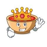 King tomato soup character cartoon. Vector illustration Stock Photography