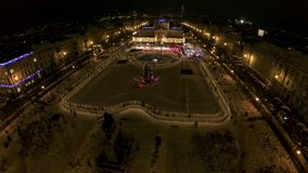 King Tomislav square before New Years Eve stock video