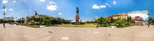 King Tomislav Square in Zagreb, Croatia Stock Photos