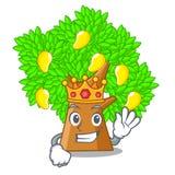 King toy cartoon mango tree above table. Vector illustration vector illustration