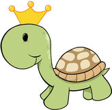 King Turtle Vector. King Turtle prince Vector Illustration Stock Photos