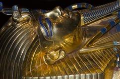 King Tut sarcophagus. King Tut exhibit showcasing King Tutankhamun sarcophagus Stock Photos