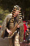 King Tut With Sax Royalty Free Stock Image