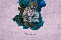 King Tutankhamun royalty free illustration
