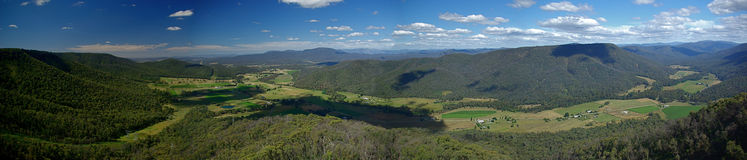 King Valley panorama Royalty Free Stock Images