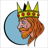 King. Vector illustration of King Arthur Royalty Free Stock Images