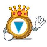 King Verge coin mascot cartoon. Vector illustration Royalty Free Stock Image