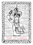 King of wands. The tarot card. Royalty Free Stock Photography