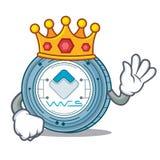 King Waves coin mascot cartoon. Vector illustration Stock Photo