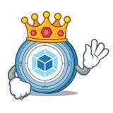 King webpack coin mascot cartoon. Vector illustration Stock Photos