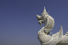 King of White Naga with Blue Sky Royalty Free Stock Photo