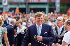 King Willem-Alexander and queen Máxima of The Netherlands, King`s Day 2014, Amstelveen, The Netherlands. King Willem-Alexander and queen Máxima of The Stock Photo