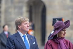 King Willem Alexander And Queen Maxima At The Dam Square Amsterdam The Netherlands 21-11-2018.  royalty free stock photos