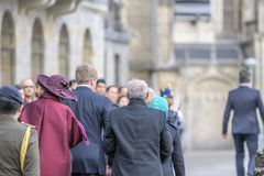 King Willem Alexander And Queen Maxima And Entourage At The Dam Square Amsterdam The Netherlands 21-11-2018 stock photos