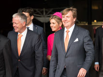 King Willem-Alexander and Queen Maxima of the Netherlands. DRONTEN, NETHERLANDS - 29 JUNE 2017: King Willem-Alexander en Queen Maxima of the Netherlands leave De stock photos