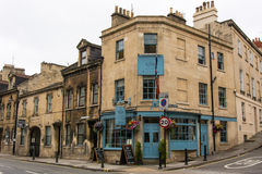 King William Public House. BATH, SOMERSET, UK - JULY 15 2016 Pub on London Road in the UNESCO World Heritage City of Bath, in Somerset, England, with Union Jack Stock Photography