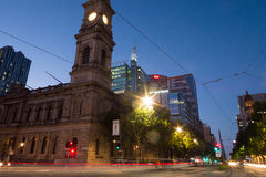 King William Street in Adelaide, South Australia Royalty Free Stock Photos