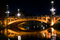 King William Street Bridge at night Royalty Free Stock Photo