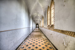 King in the Woods. An abandoned monastery in The Netherlands. Great details left inside royalty free stock images
