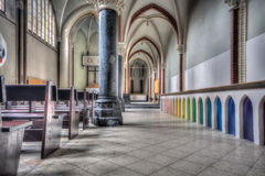 King in the Woods. An abandoned monastery in The Netherlands. Great details left inside Royalty Free Stock Photo