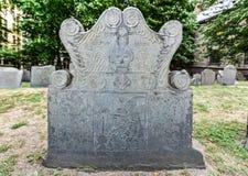 King's Chapel Burial Ground - Boston, Massachusetts Stock Images