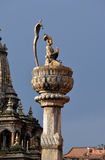 King Yoganarendra Malla bronze statue. Patan, Nepal Stock Images
