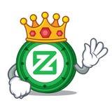 King Zcoin mascot cartoon style. Vector illustration Stock Photo