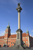King Zygmunt's Column and Royal Castle Stock Photo