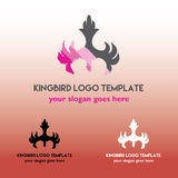 Kingbird Logo Template Stockfoto