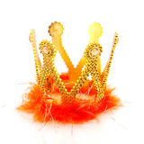Kingdom. With golden crown and orange isolated over white