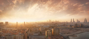 Kingdom of Bahrain sunset view Royalty Free Stock Photos