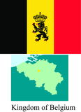 Kingdom of Belgium flag Stock Images