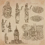 Kingdom of Cambodia - Hand drawn vector pack Royalty Free Stock Photography