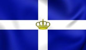 Kingdom of Greece Flag Stock Photos