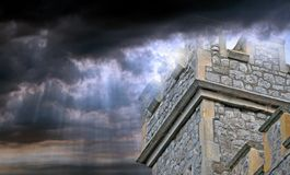 Kingdom of the heavens castle royalty free stock image
