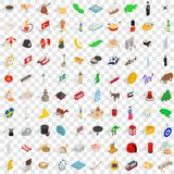 100 kingdom icons set, isometric 3d style. 100 kingdom icons set in isometric 3d style for any design vector illustration Royalty Free Stock Photos