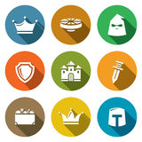Kingdom Icons Set. Vector Illustration Stock Photos