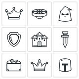 Kingdom icons. Vector Illustration Stock Photography