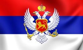Kingdom of Montenegro Flag & x28;1910-1918& x29; Stock Photos