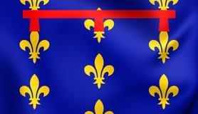 Kingdom of Naples Flag. Kingdom of Naples 3D Flag. Close Up Stock Image